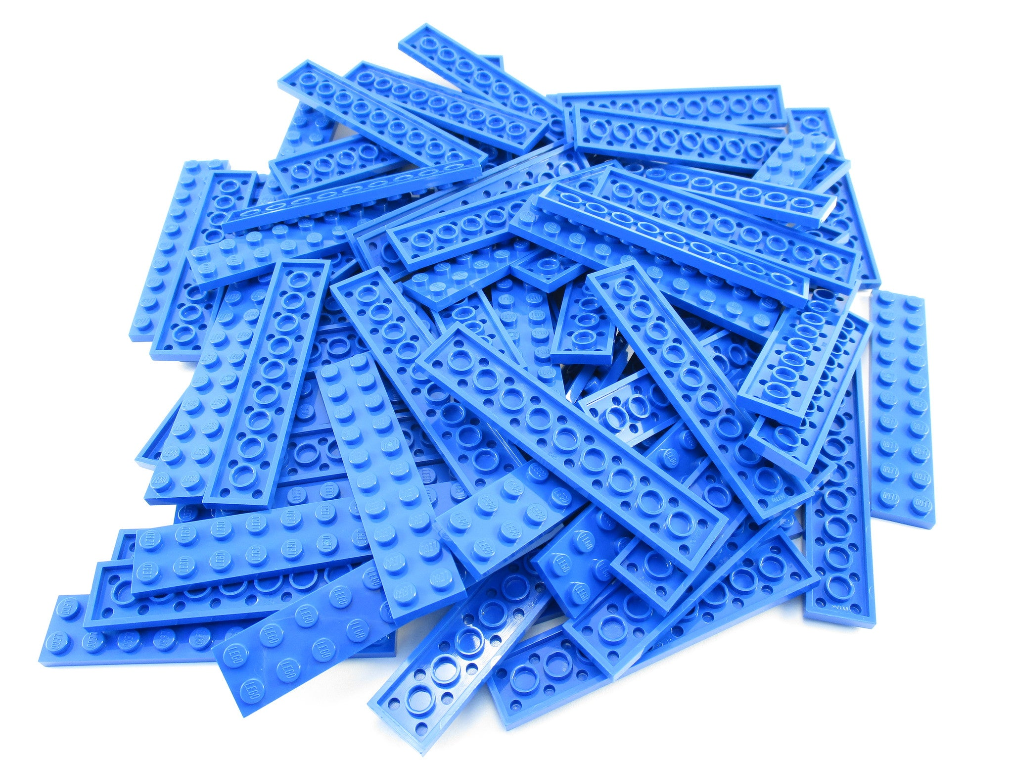 LEGO Blue Plate 2x10 Lot of 50 Parts Pieces 3832