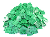 LEGO Green Plate 4x4 Lot of 100 Parts Pieces 3031