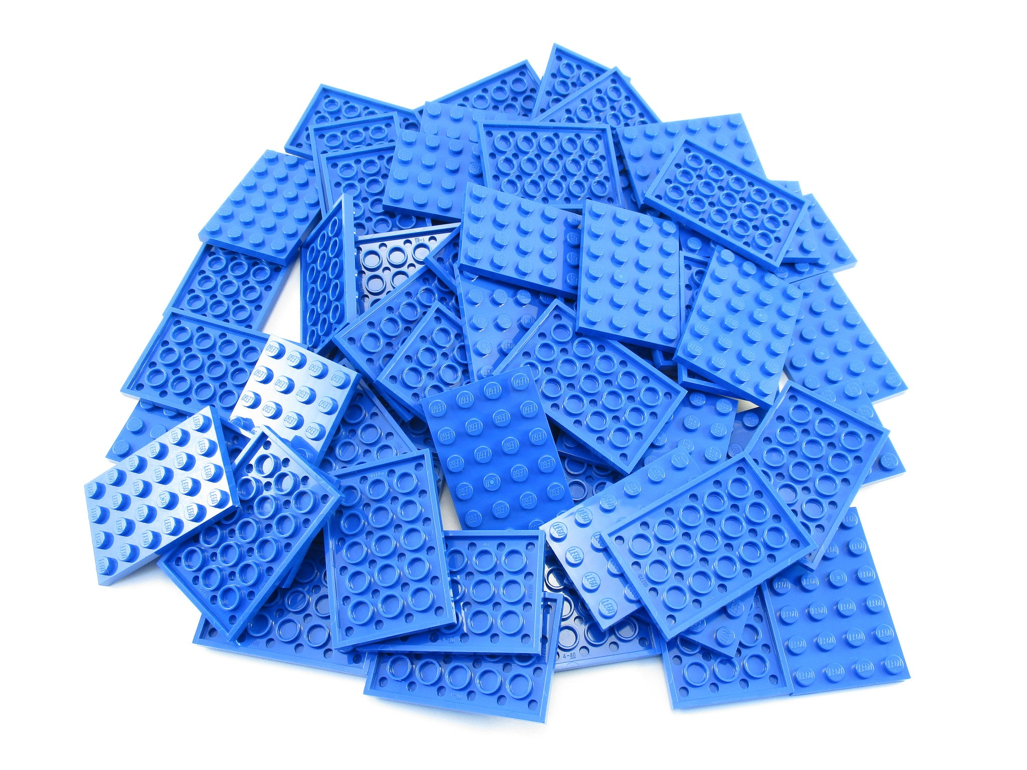 LEGO Blue Plate 4x6 Lot of 50 Parts Pieces 3032