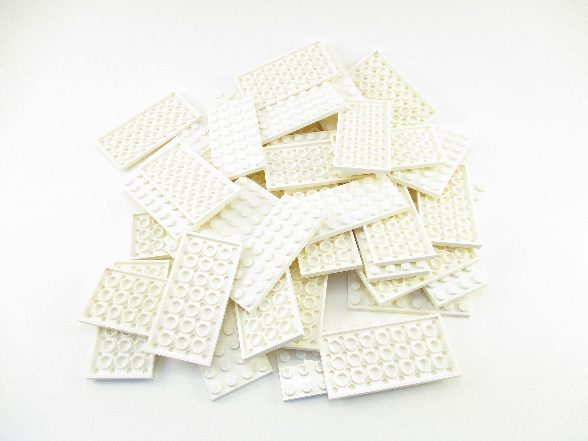 LEGO White Plate 4x8 Lot of 50 Parts Pieces 3035