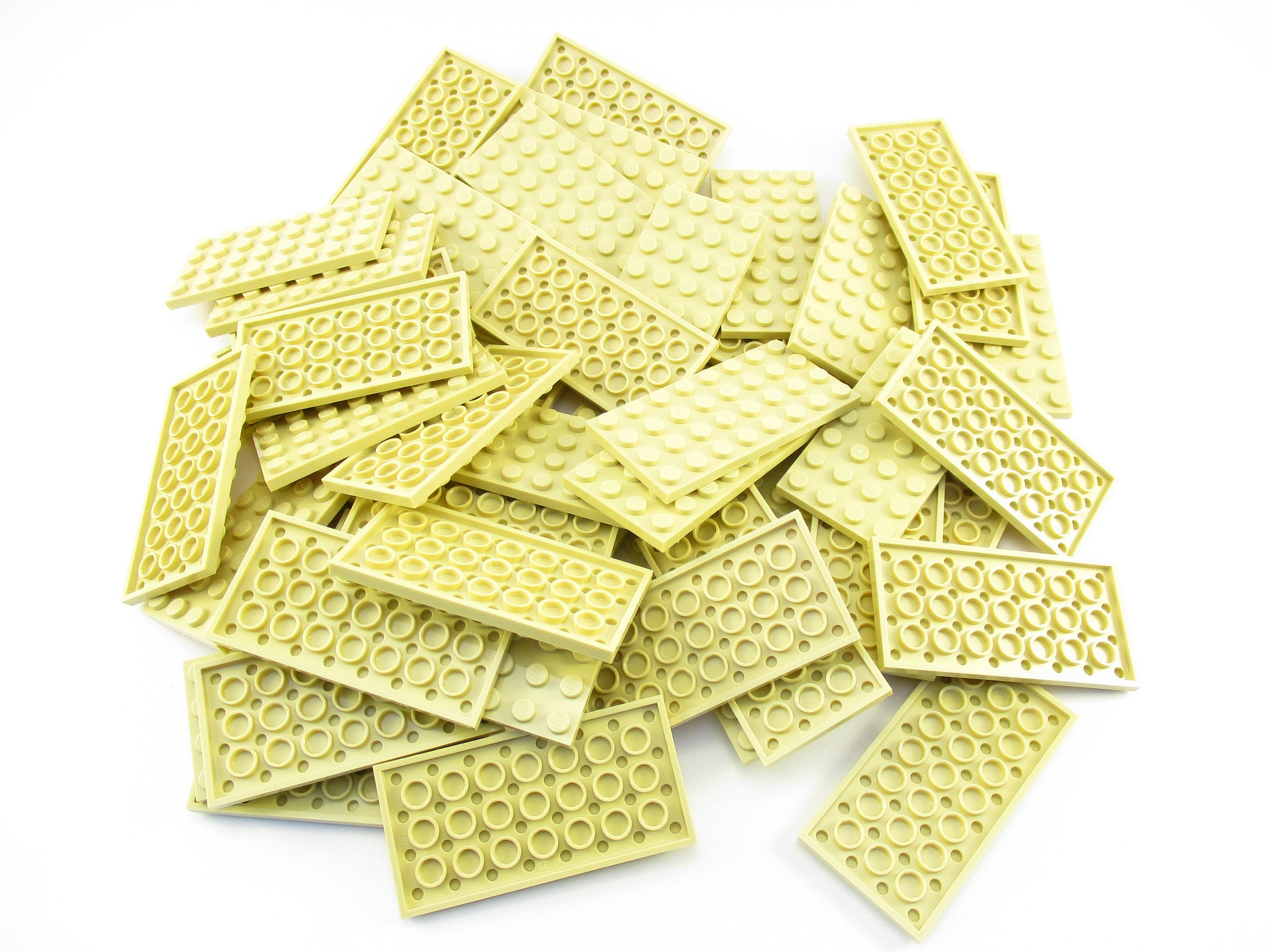 LEGO Tan Plate 4x8 Lot of 50 Parts Pieces 3035