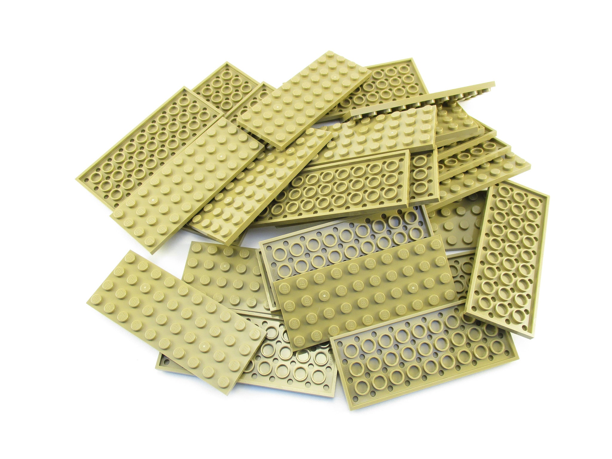 LEGO Dark Tan Plate 4x10 Lot of 25 Parts Pieces 3030