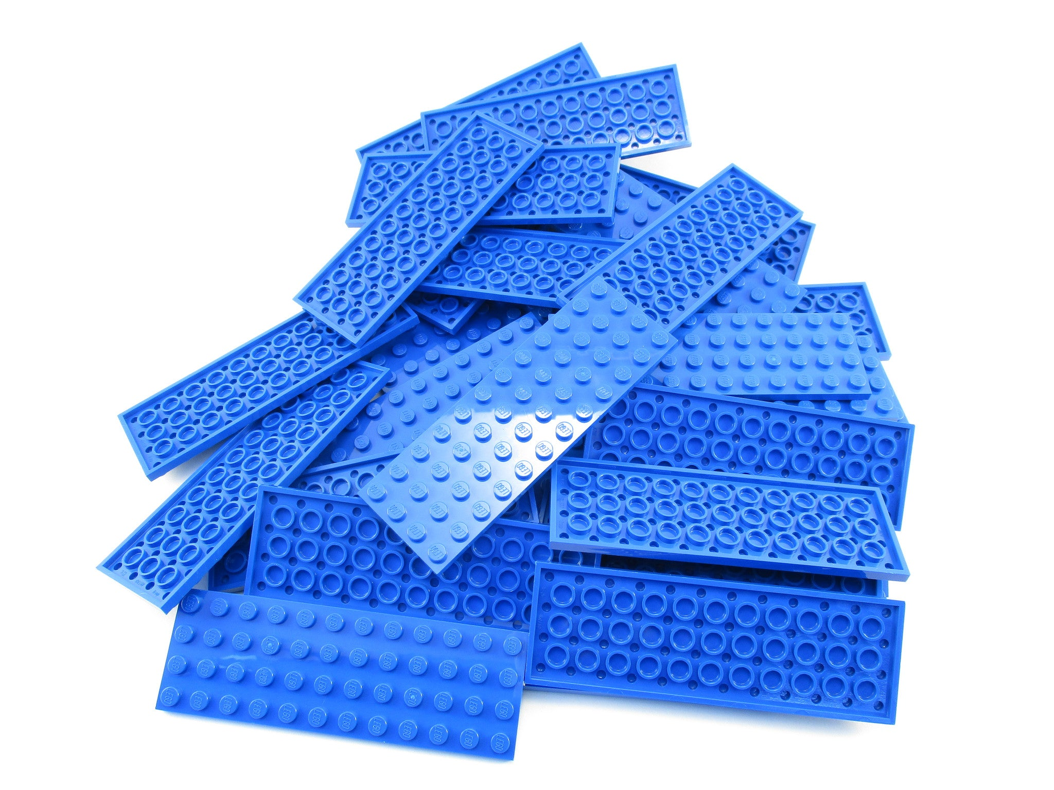 LEGO Blue Plate 4x12 Lot of 25 Parts Pieces 3029