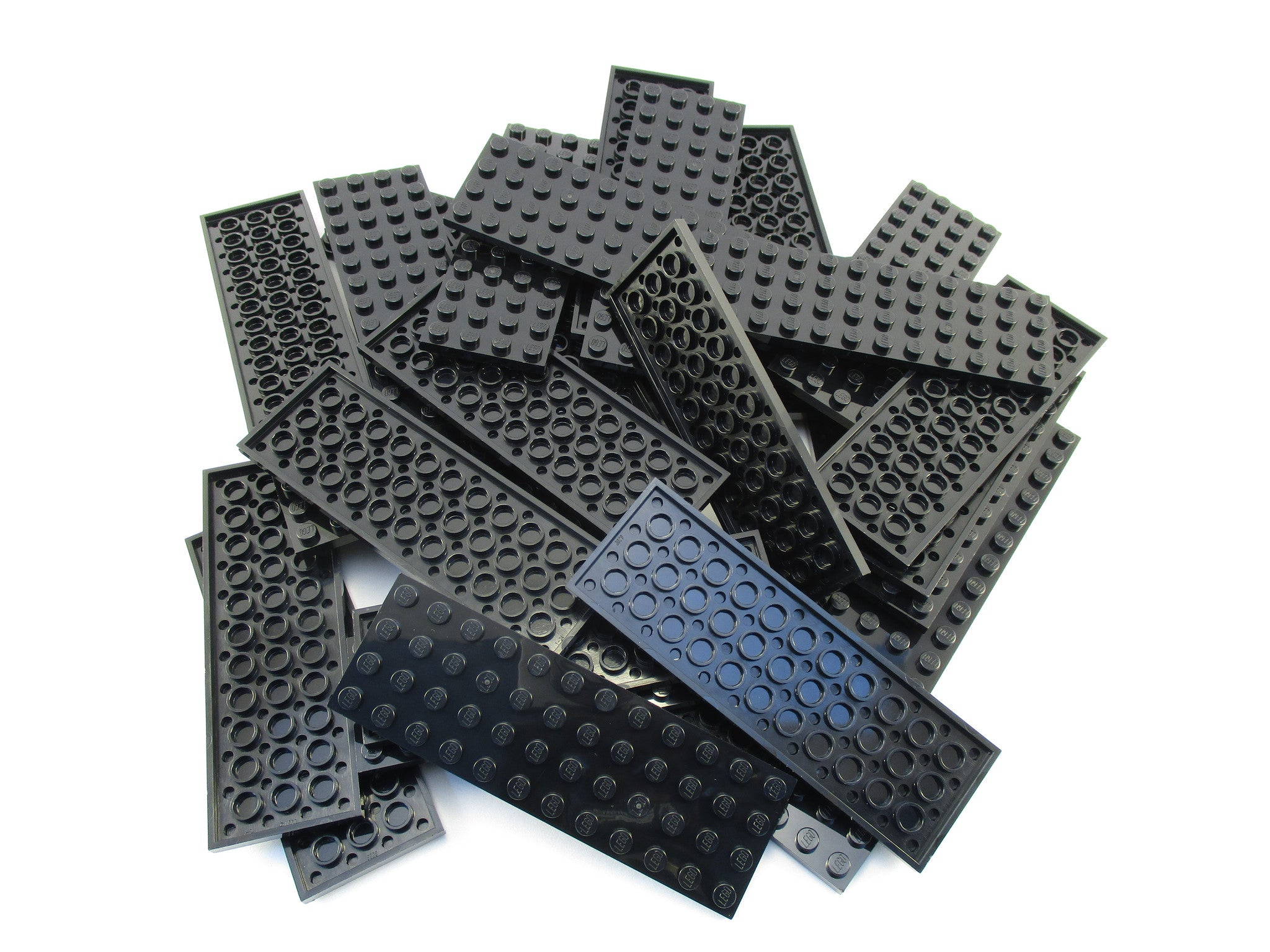 LEGO Black Plate 4x12 Lot of 25 Parts Pieces 3029