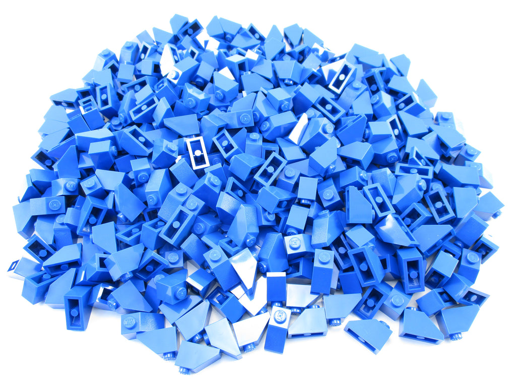 LEGO Blue Slope 45 2x1 Lot of 100 Parts Pieces 3040