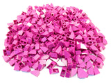 LEGO Magenta Slope 45 2x1 Lot of 100 Parts Pieces 3040