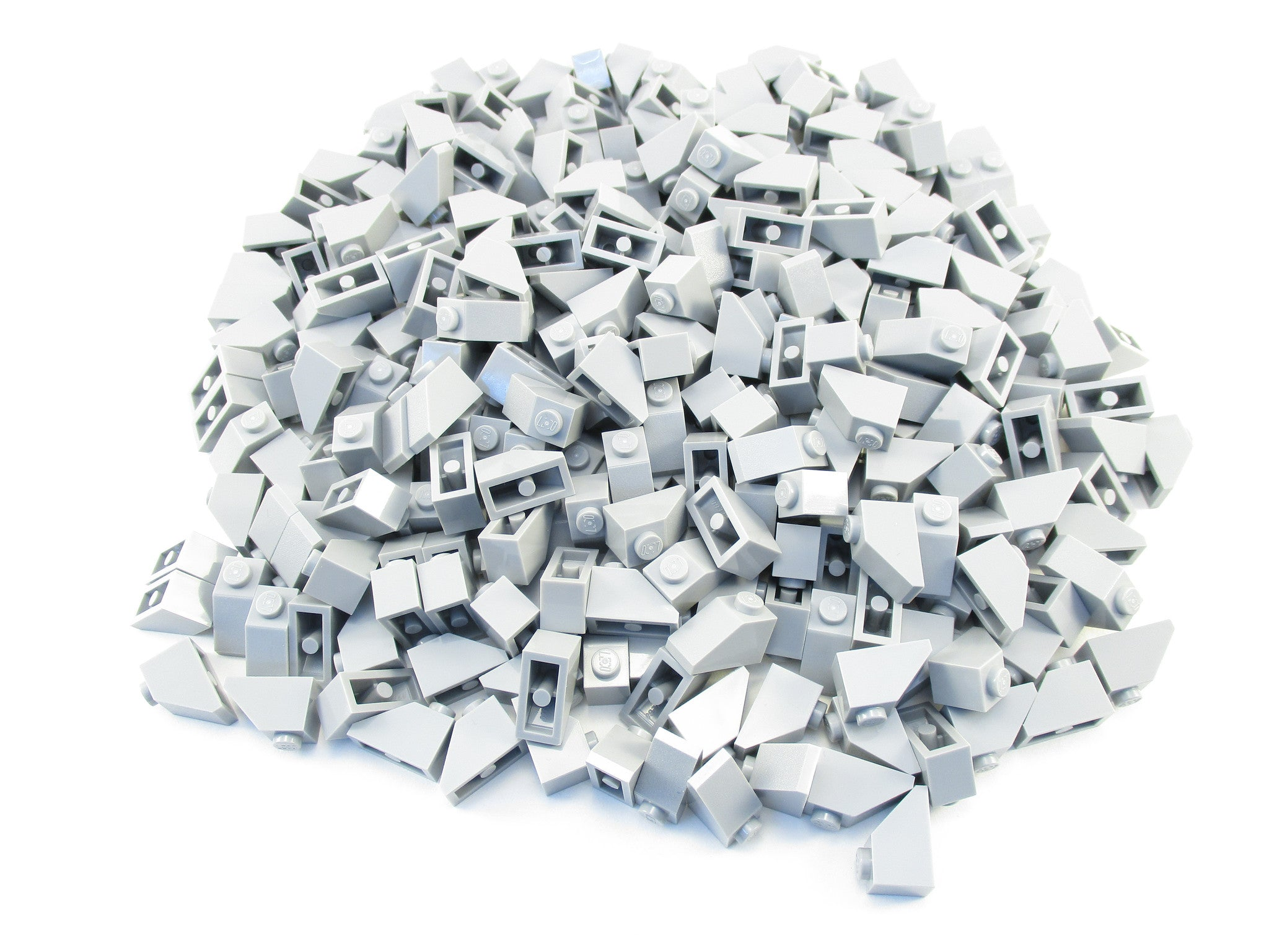 LEGO Light Bluish Grey Slope 45 2x1 Lot of 100 Parts Pieces 3040 Gray