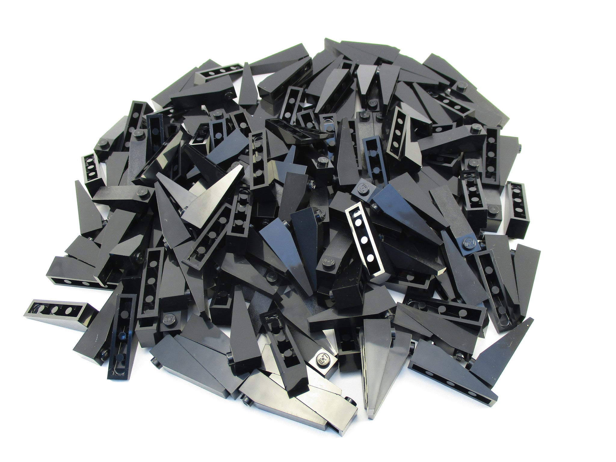 LEGO Black Slope 18 4x1 Lot of 100 Parts Pieces 60477