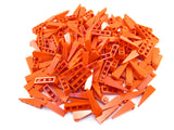 LEGO Red Slope 18 4x1 Lot of 100 Parts Pieces 60477