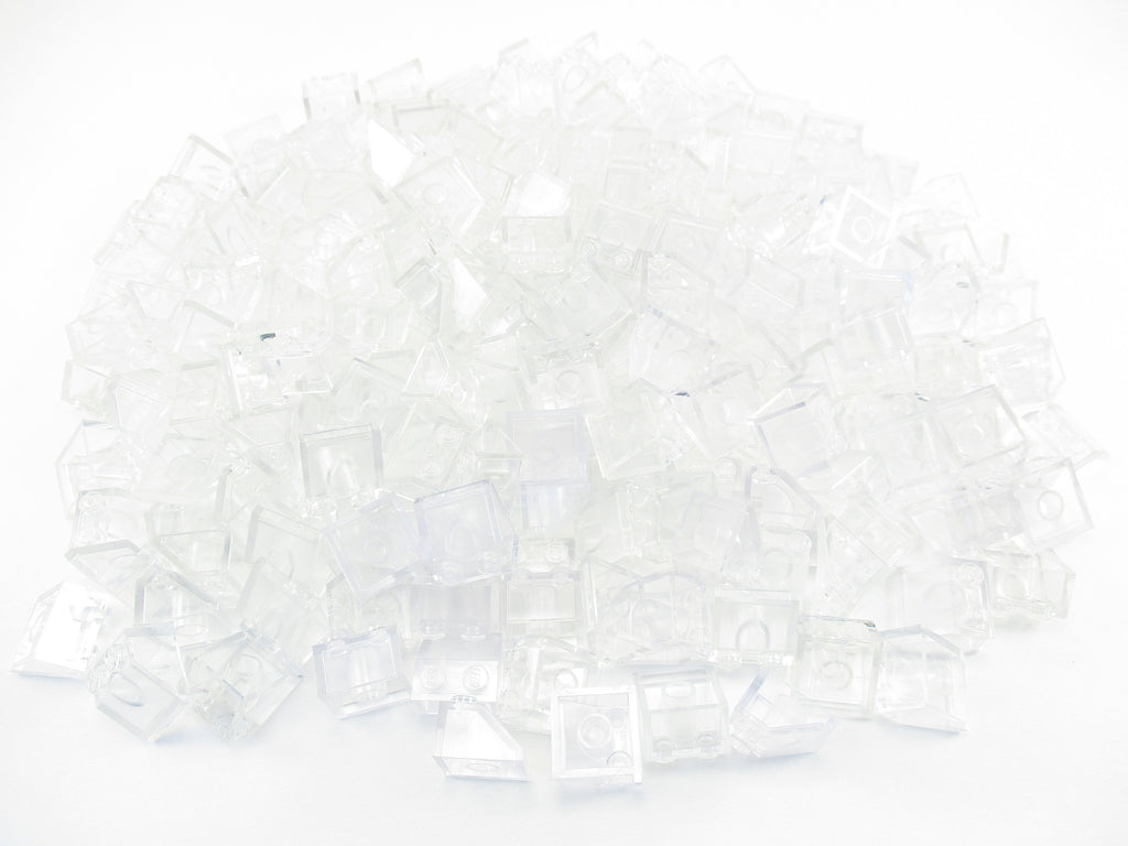 Lego Lot of 25 New Trans-Clear Plates Round 4 x 4 with 2 x 2 Hole Parts