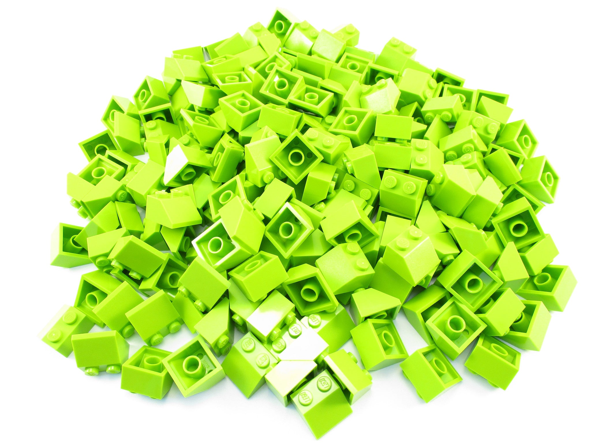 LEGO Lime Slope 45 2x2 Lot of 100 Parts Pieces 3039