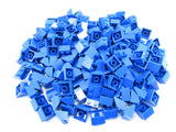 LEGO Blue Slope 45 2x2 Lot of 100 Parts Pieces 3039