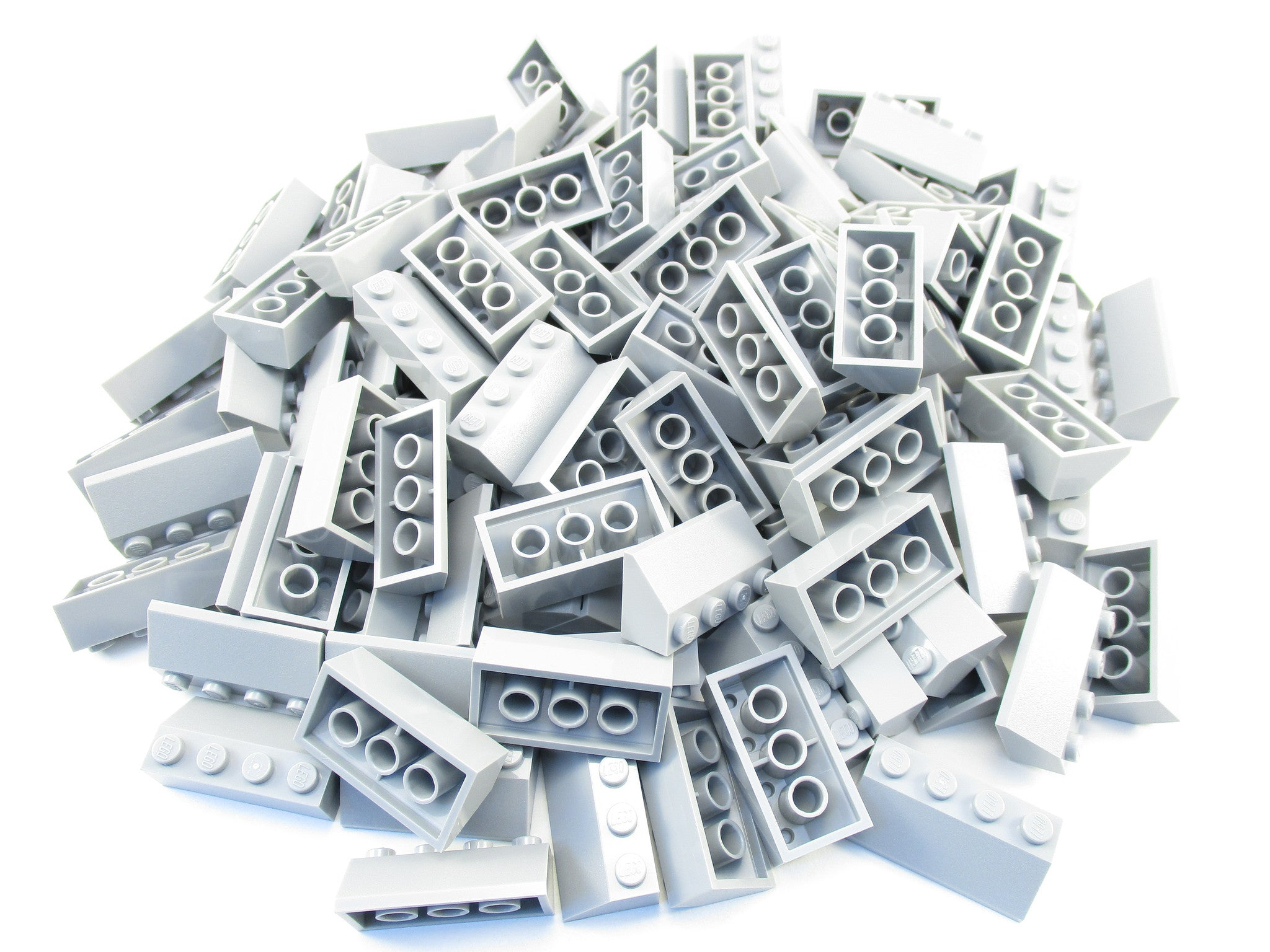 LEGO Light Bluish Grey Slope 45 2x4 Lot of 50 Parts Pieces 3037 Gray