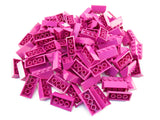 LEGO Magenta Slope 45 2x4 Lot of 50 Parts Pieces 3037