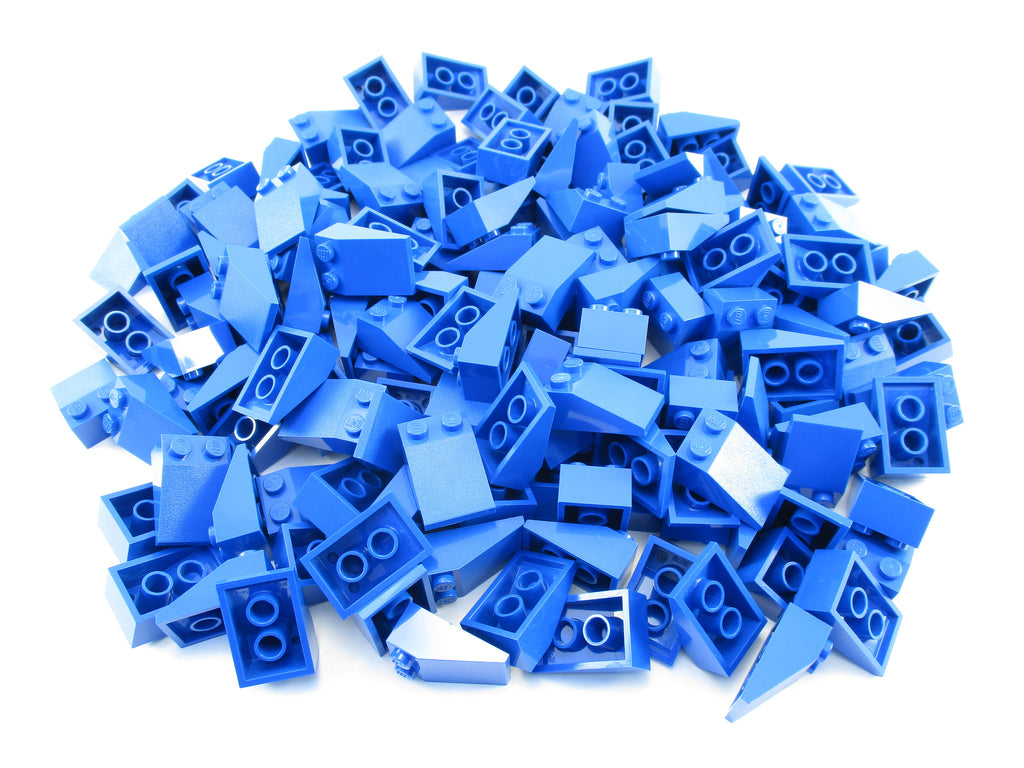 LEGO Blue Slope 33 3x2 Lot of 100 Parts Pieces 3298