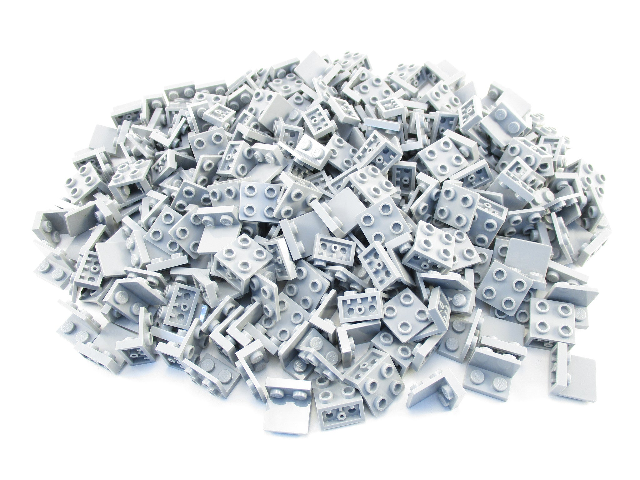LEGO Light Bluish Gray Bracket 1x2 - 2x2 Inverted Lot of 100 Parts Pieces 99207 Grey