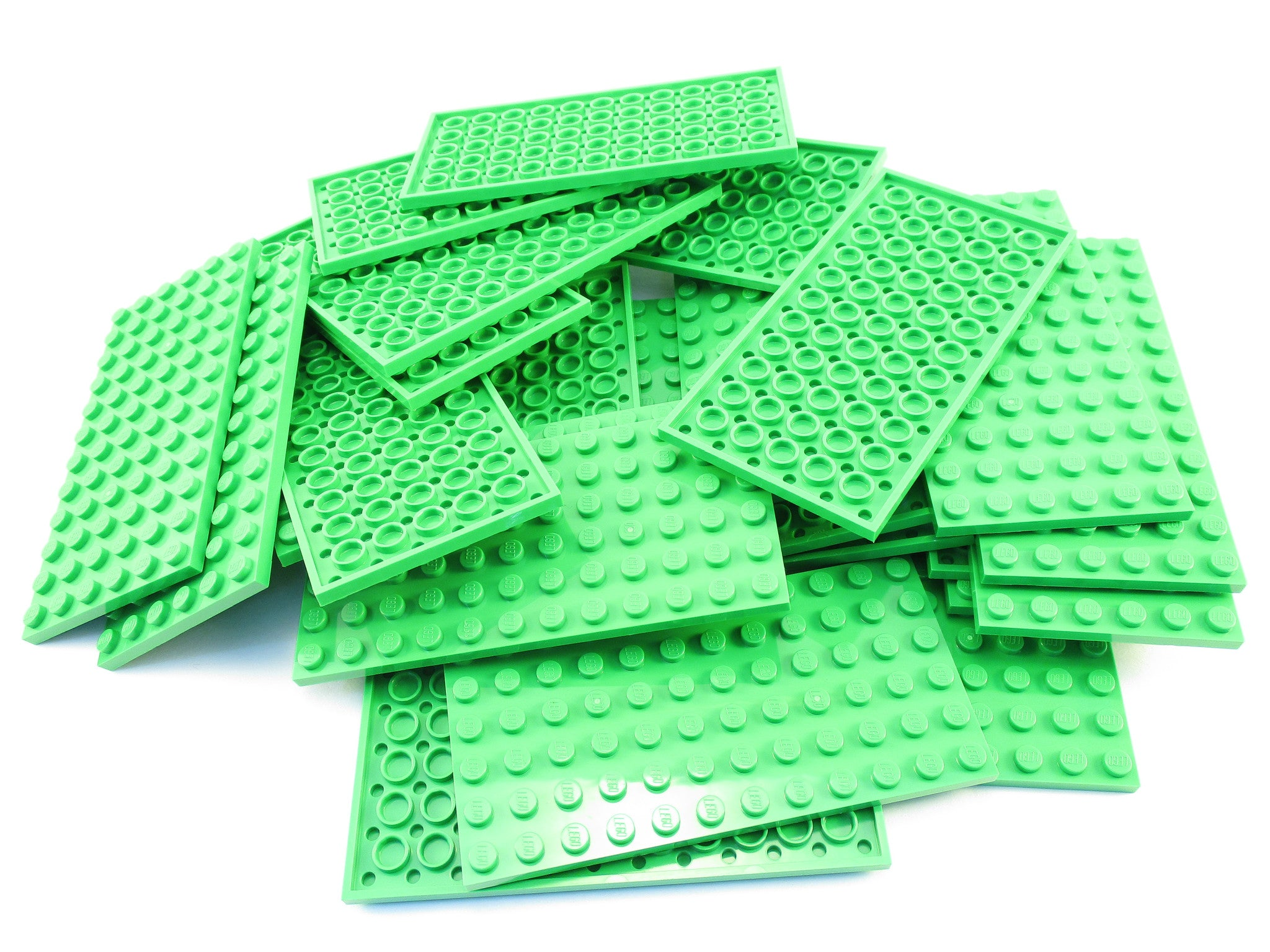 LEGO Bright Green Plate 6x12 Lot of 25 Parts Pieces 3028