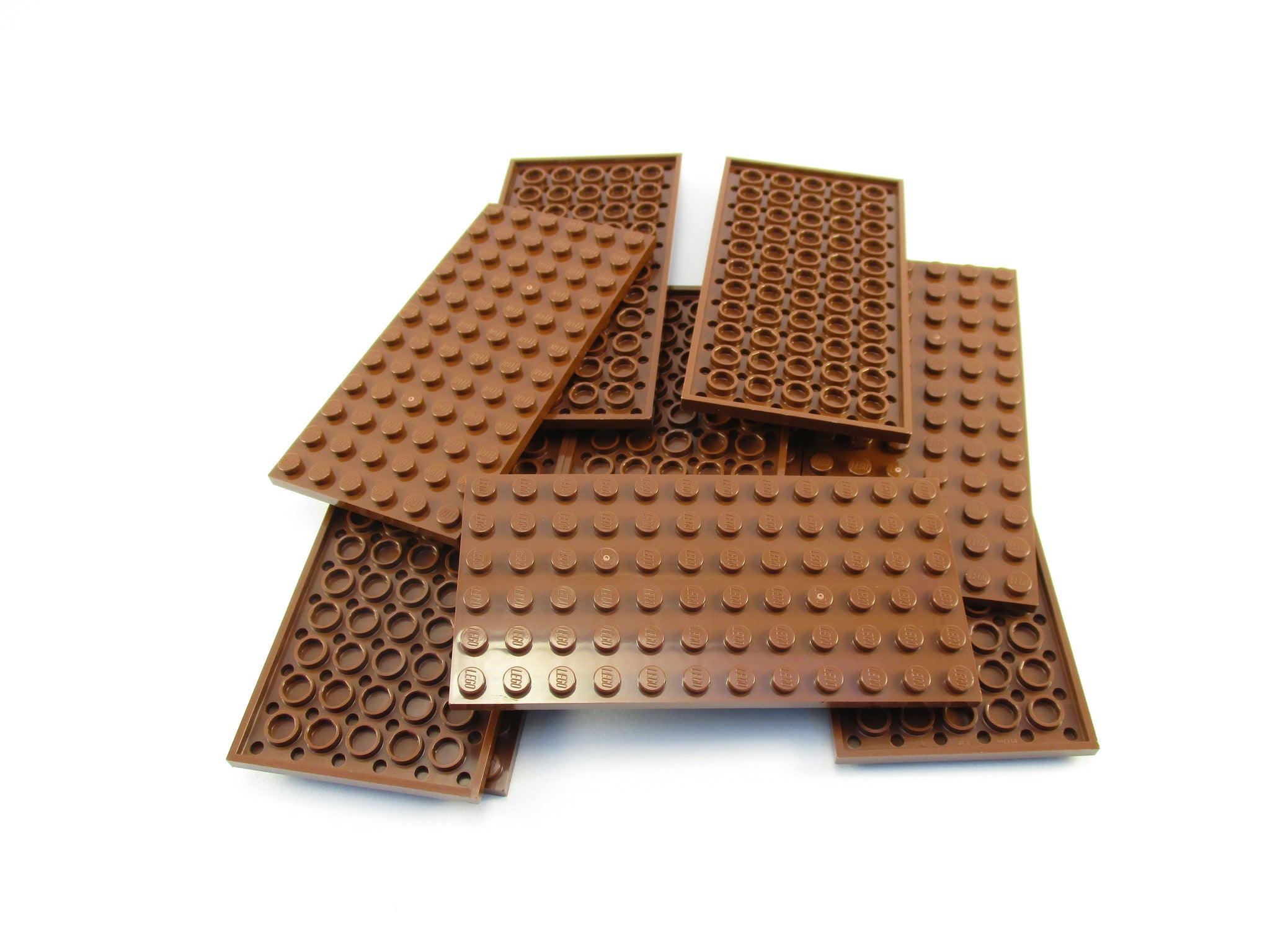 LEGO Reddish Brown Plate 6x12 Lot of 10 Parts Pieces 3028