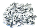 LEGO Light Bluish Gray Brick Modified 2x3 Curved Top Lot of 100 Parts Pieces 6215 Grey