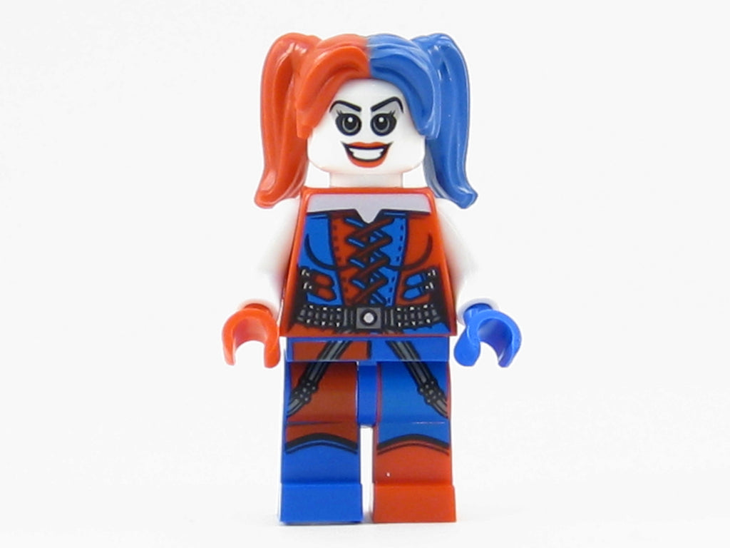 LEGO DC Super Heroes Harley Quinn Minifigure Mini Fig Red Blue