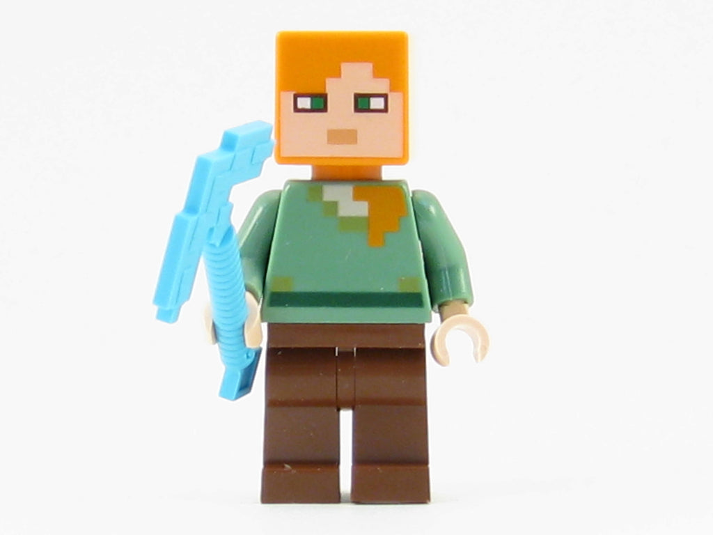 LEGO Minecraft Minifigure Alex Mini Fig with Diamond Pickaxe