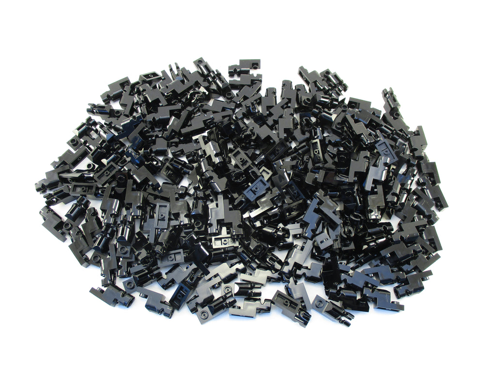 LEGO Black Plate Modified 1x2 Mini Blaster Shooter Lot of 100 Parts Pieces 15403
