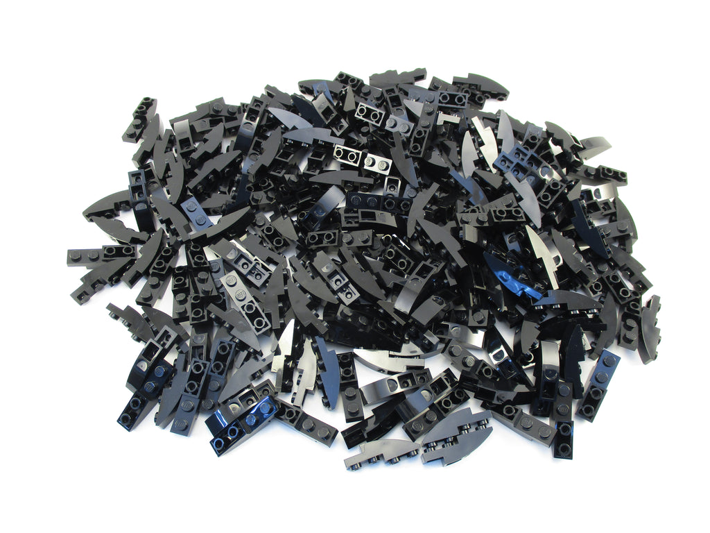 LEGO Black Slope Curved 4x1 Inverted Lot of 100 Parts Pieces 13547