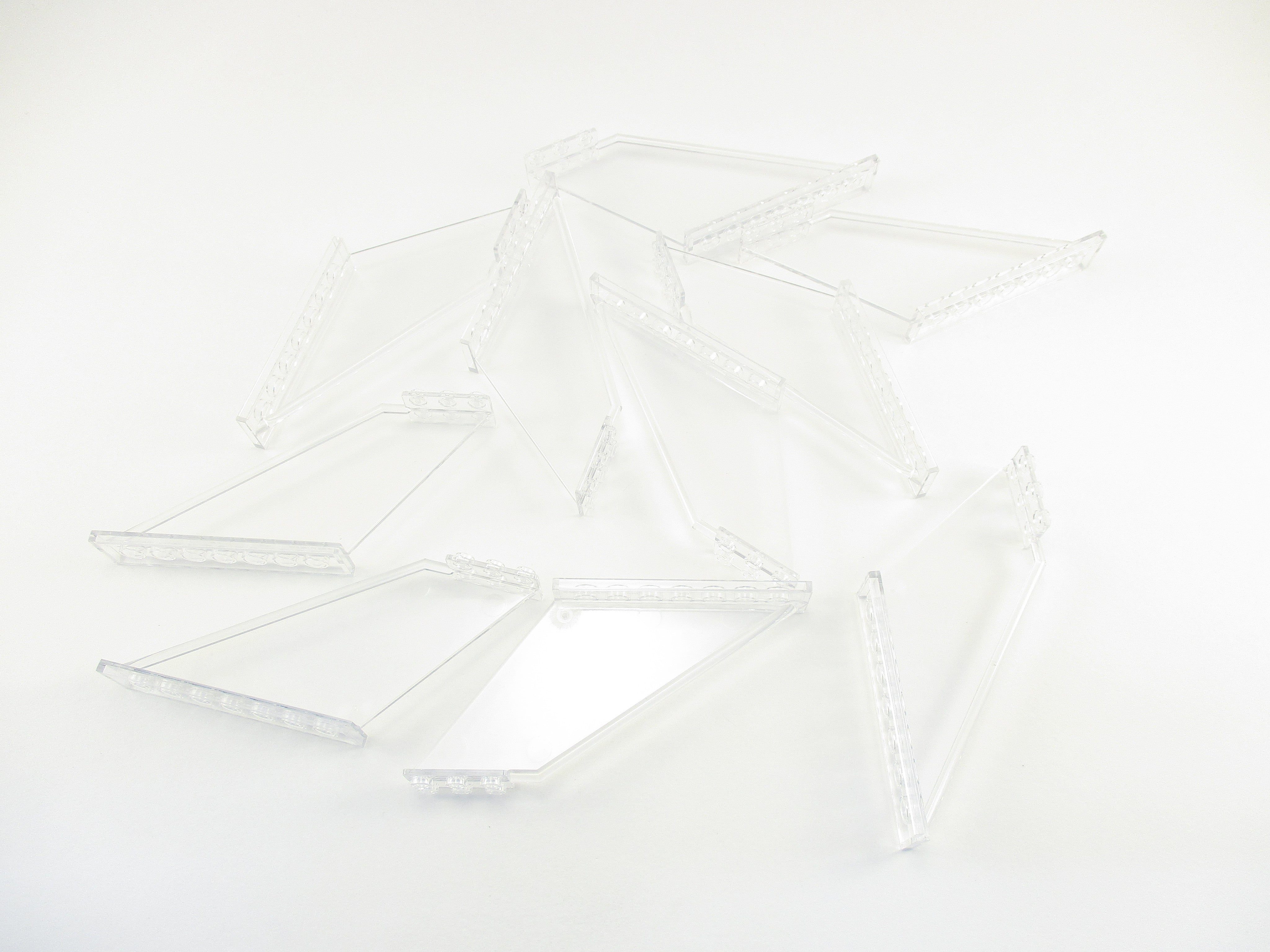 LEGO Trans Clear Tail 12x2x5 Lot of 10 Parts Pieces 87614