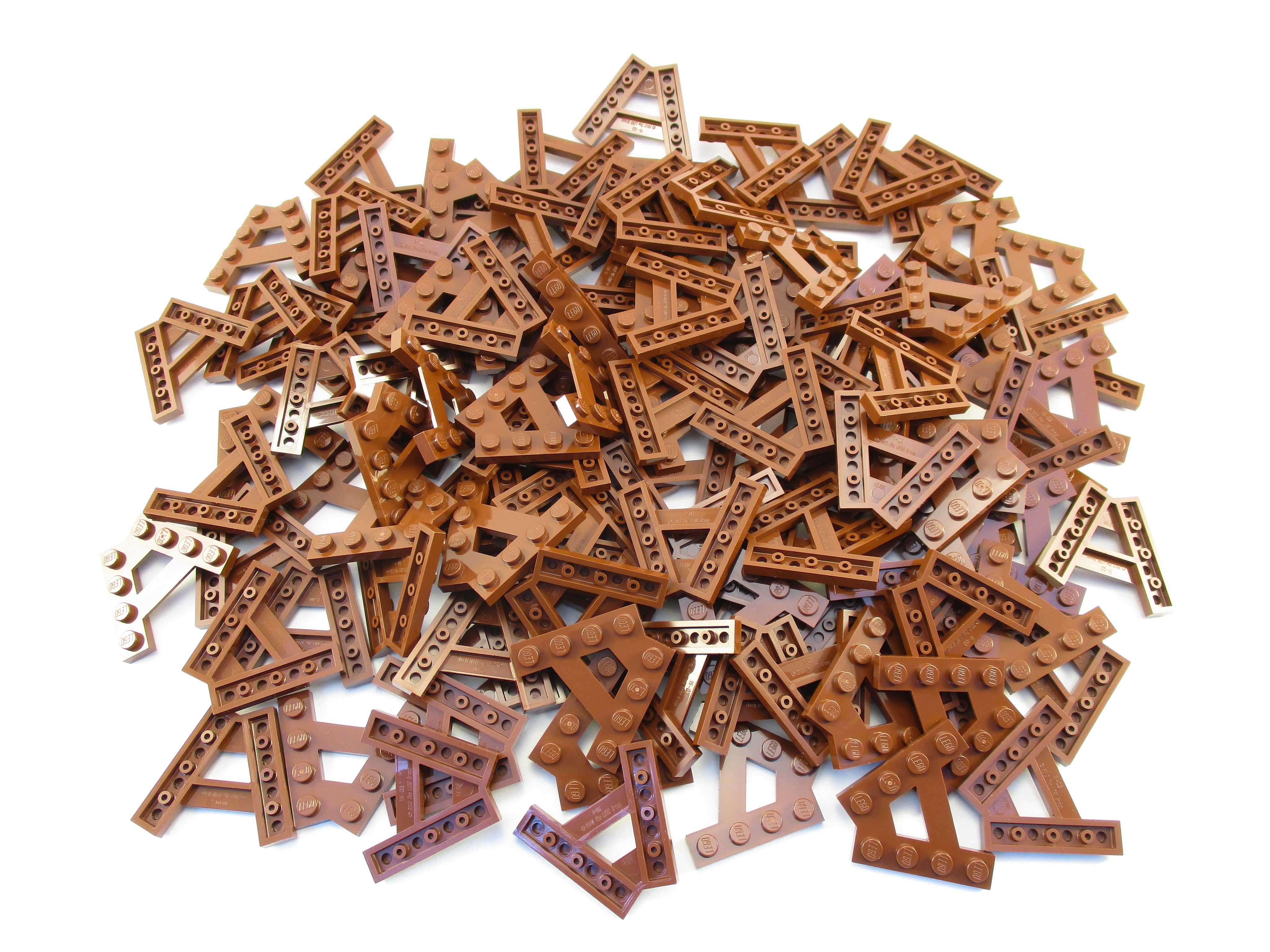LEGO Reddish Brown Wedge Plate A-Shape Lot of 100 Parts Pieces 15706