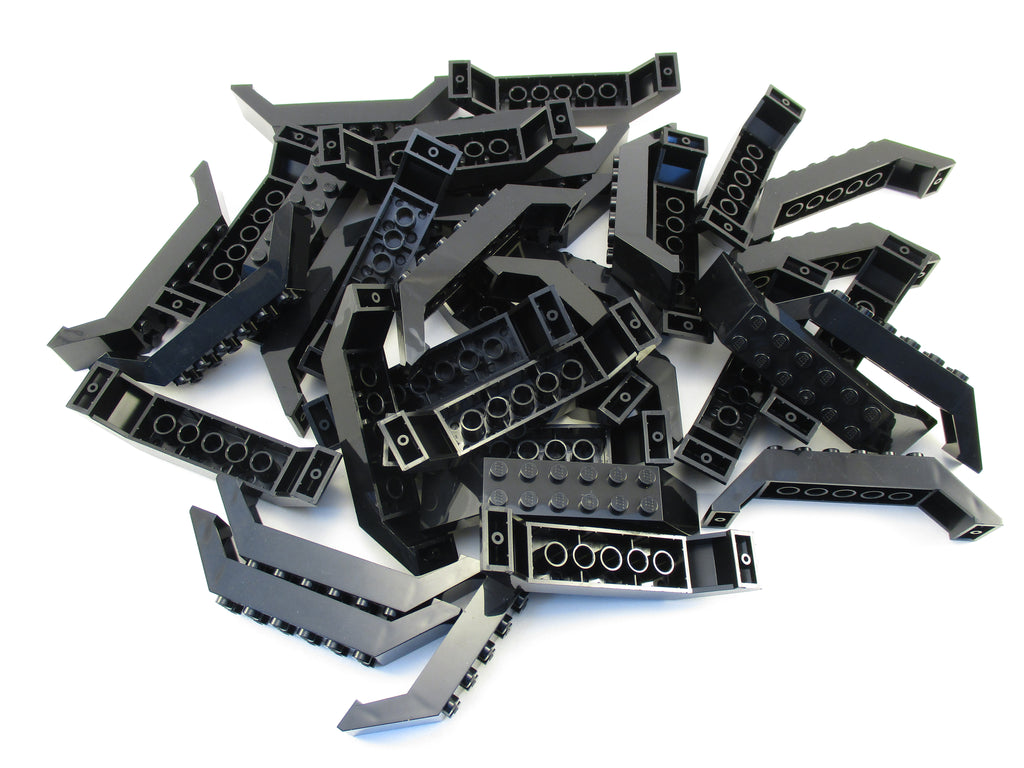 LEGO Black Slope 45 10x2x2 Double Lot of 25 Parts Pieces 30180