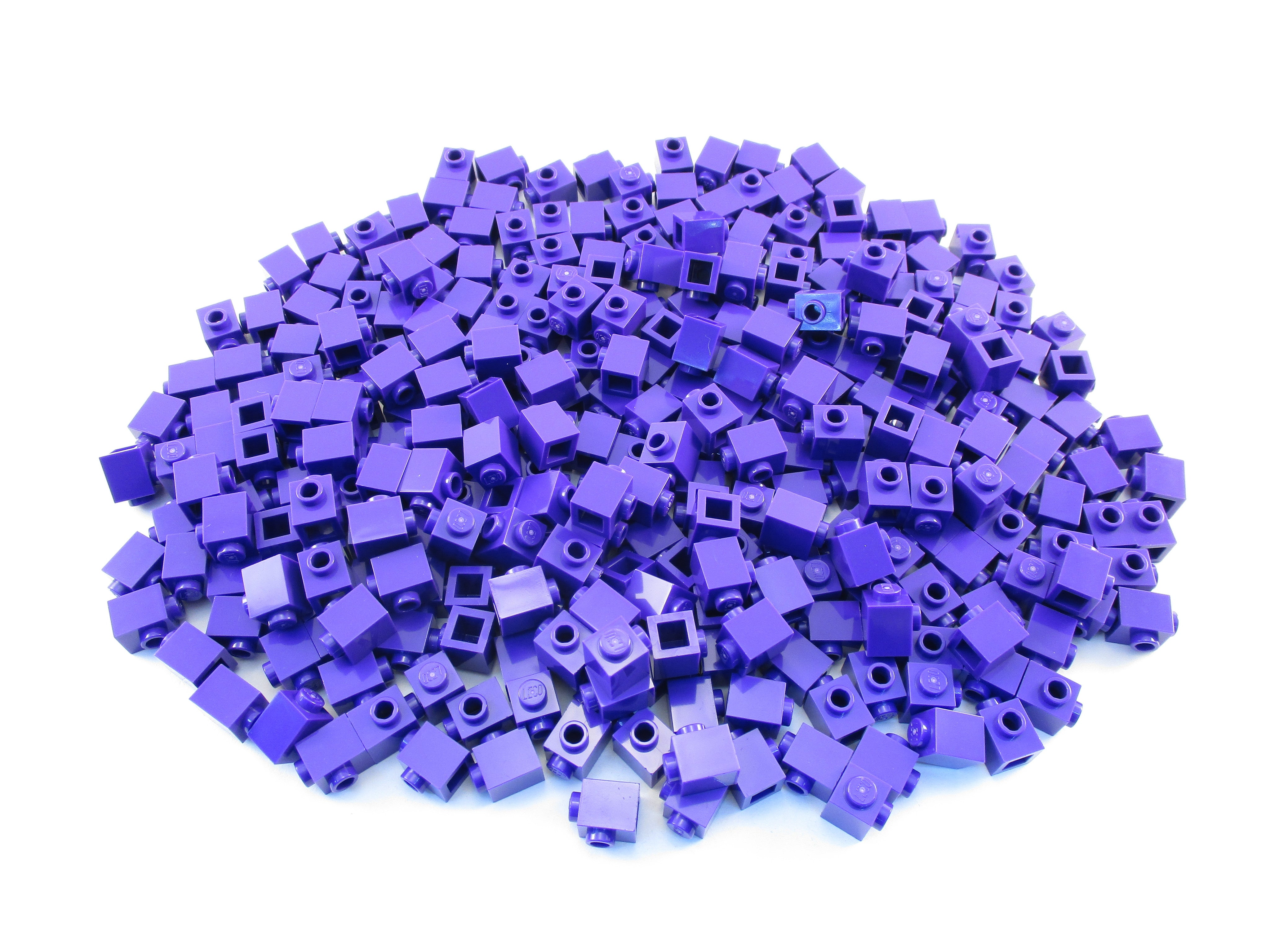 LEGO Dark Purple Brick Modified 1x1 Stud on 1 Side Lot of 100 Parts Pieces 87087