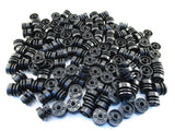 LEGO Black Wheel 18mm D.x14mm with Pin Hole Lot of 50 Parts Pieces 55981