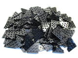LEGO Black Wedge Plate 4x4 Cut Corner Lot of 100 Parts Pieces 30503