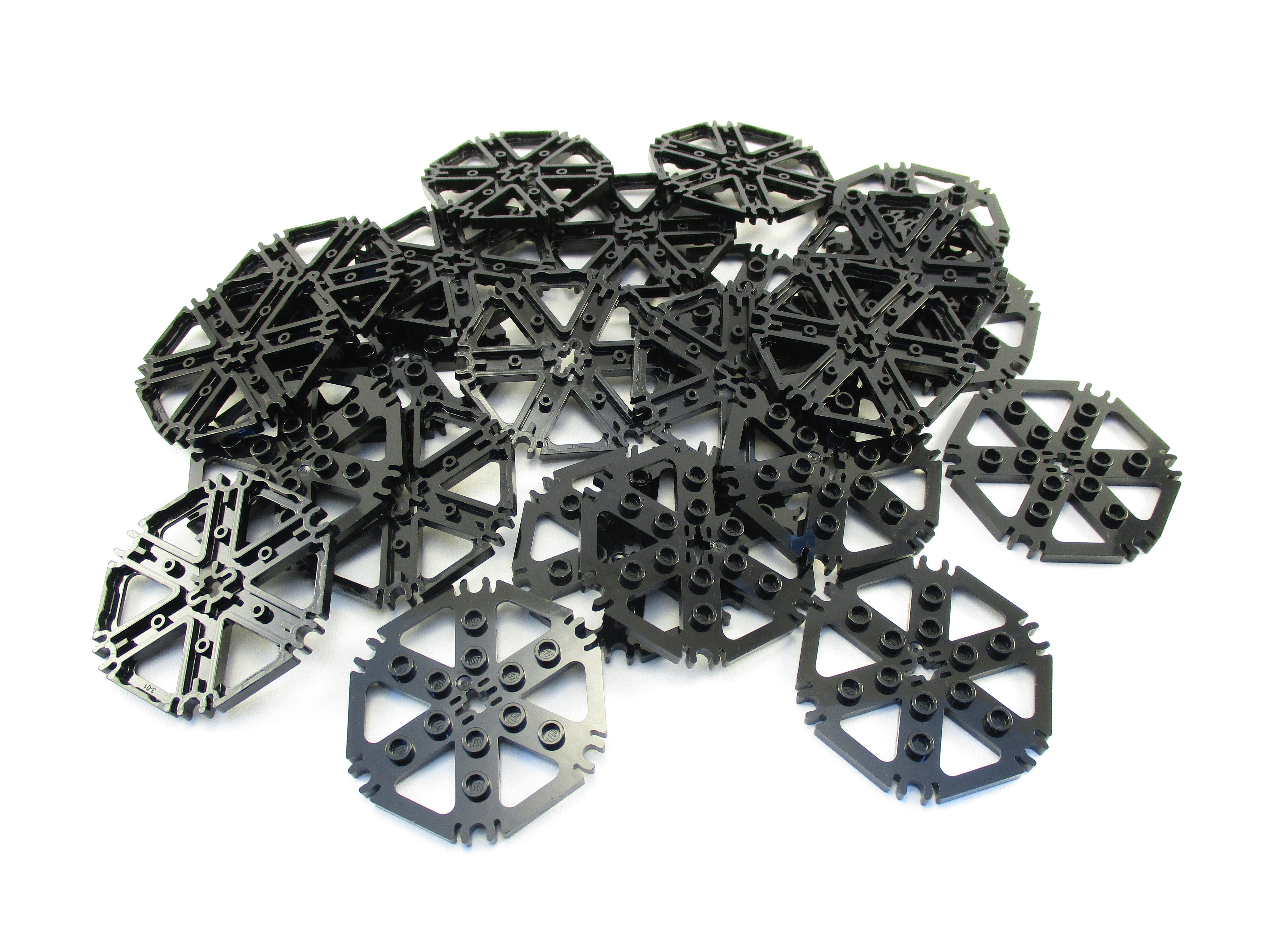 LEGO Black Technic Plate Rotor 6 Blade Water Wheel Lot of 25 Parts Pieces 64566