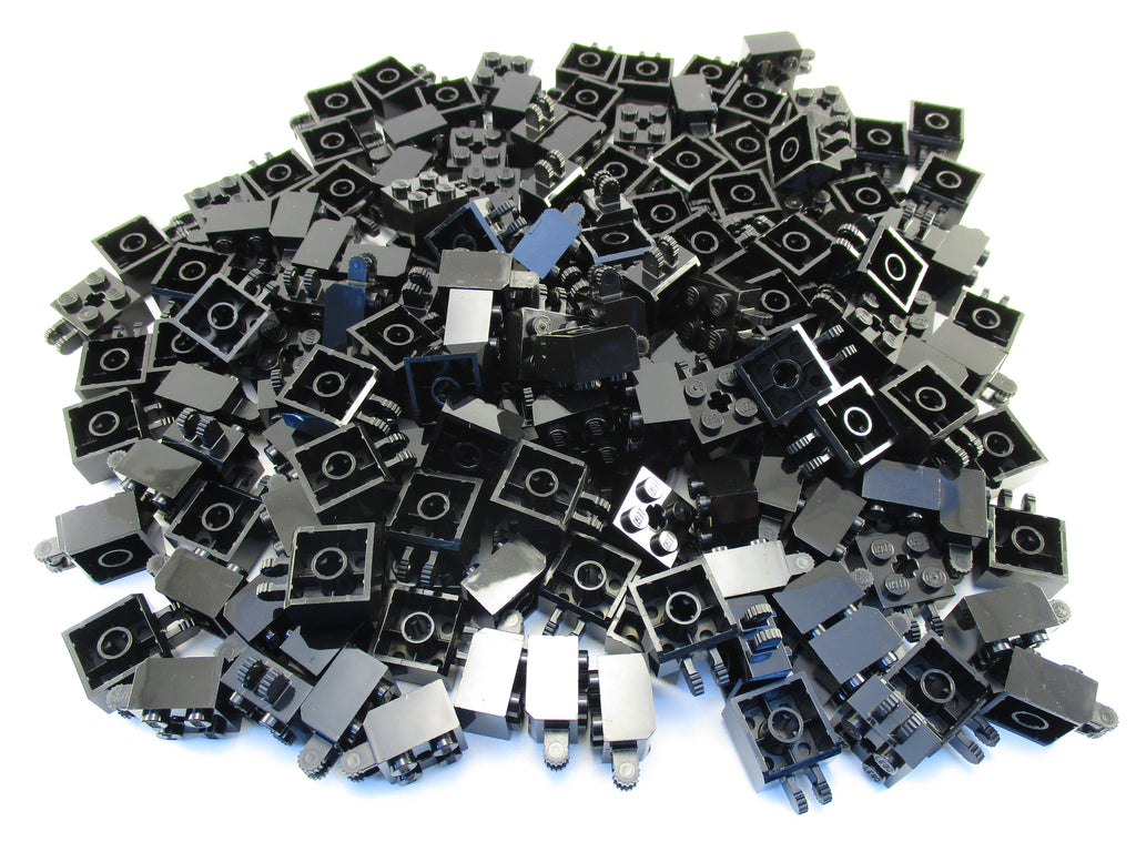 LEGO Black Hinge Brick 2x2 Locking 2 Fingers Vertical Axle Hole Lot of 100 Parts Pieces 40902
