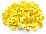 LEGO Yellow Brick Modified 2x3 Curved Top Lot of 100 Parts Pieces 6215
