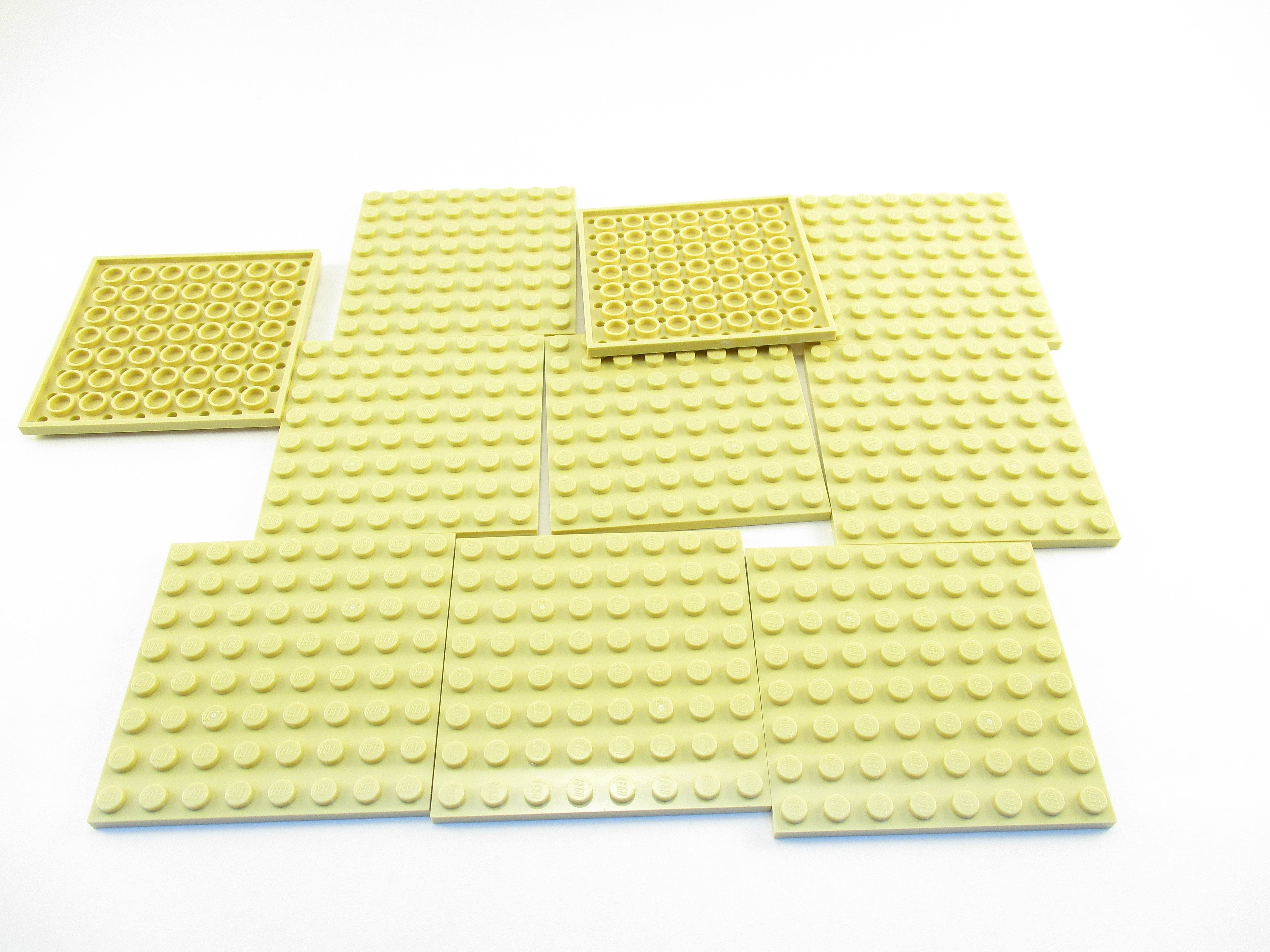 LEGO Tan Plate 8x8 Lot of 10 Parts Pieces 41539