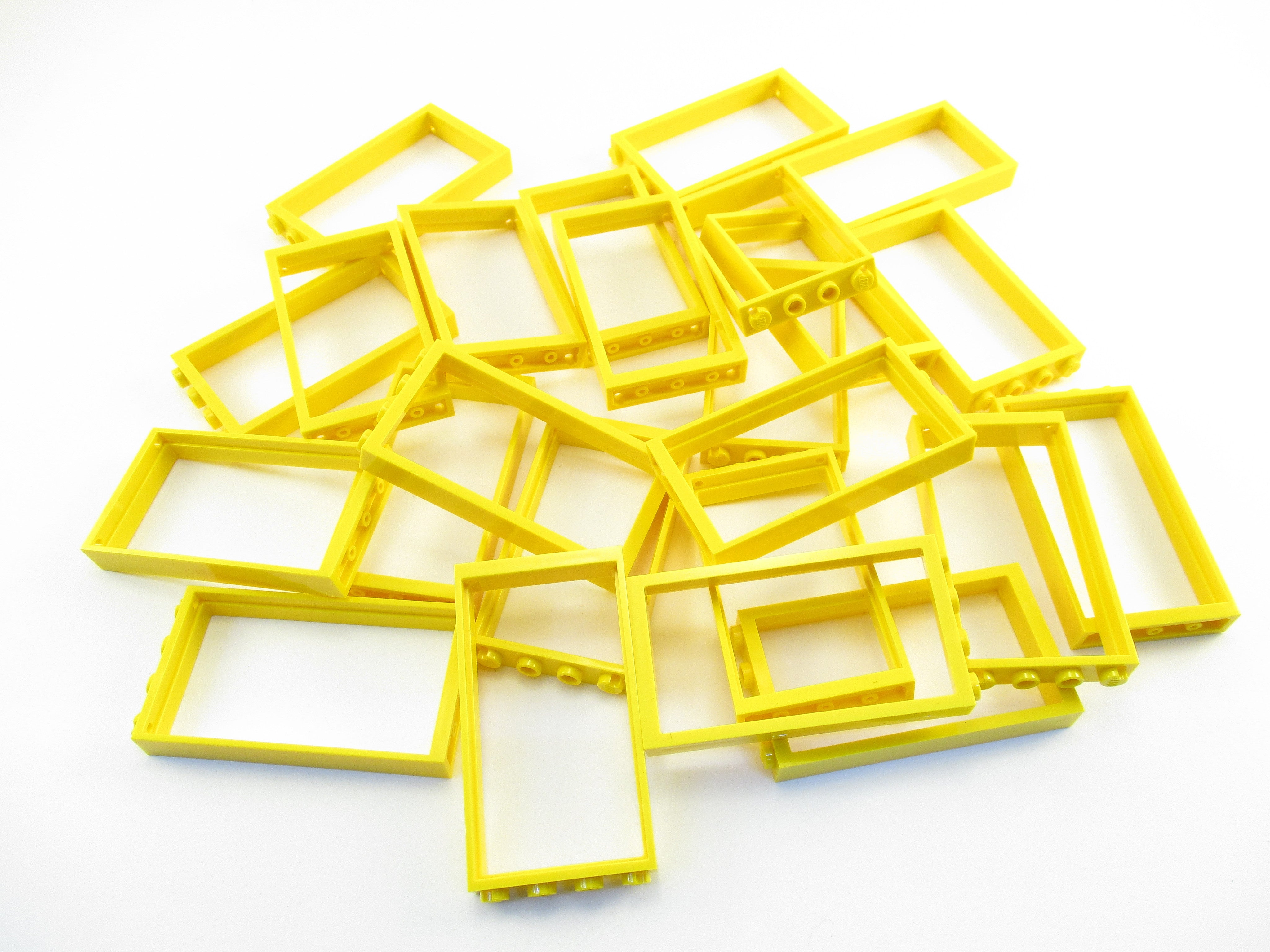 LEGO Yellow Door Frame 1x4x6 Lot of 25 Parts Pieces 60596