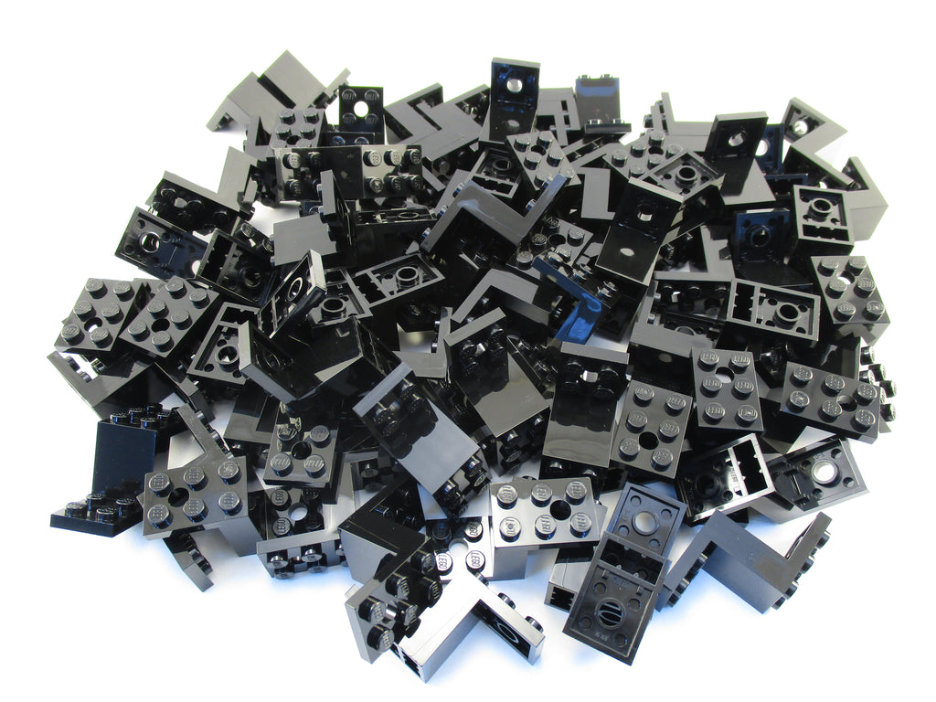LEGO Black Bracket 5x2x2 1/3 with 2 Holes Lot of 100 Parts Pieces 76766