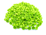 LEGO Lime Brick Round 2x2 Dome Top Lot of 100 Parts Pieces 553c
