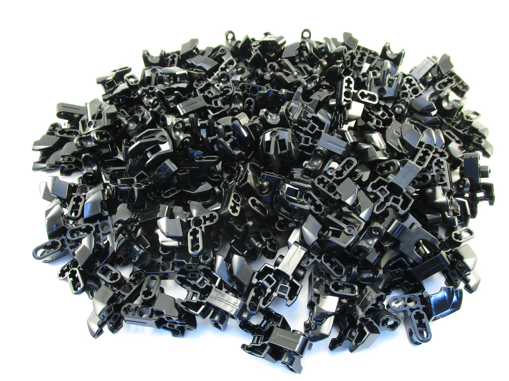 LEGO Black Hero Factory Foot Three Short Claws Ball Socket Lot of 100 Parts Pieces 15976