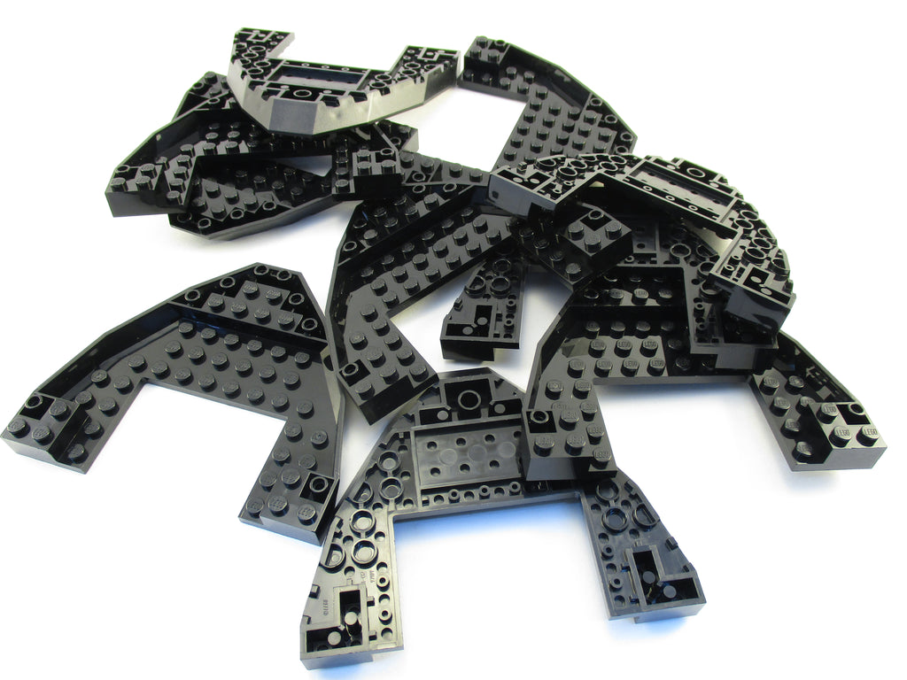 LEGO Black Boat Bow Brick 10x12x1 Open Lot of 10 Parts Pieces 47404