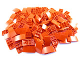 LEGO Red Slope Curved 4x2 No Studs Lot of 100 Parts Pieces 93606