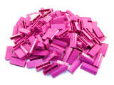 LEGO Magenta Brick Modified 1x4x1 1/3 No Studs Curved Top Lot of 100 Parts Pieces 6191
