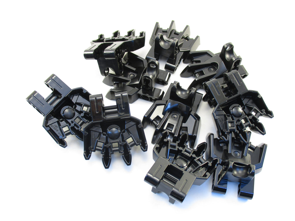 LEGO Black Hero Factory Foot Four Short Claws Ball Socket Lot of 10 Parts Pieces 15367