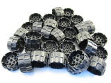 LEGO Pearl Dark Gray Wheel Hard Plastic Treaded 37mm D.x22mm Lot of 25 Parts Pieces 22410