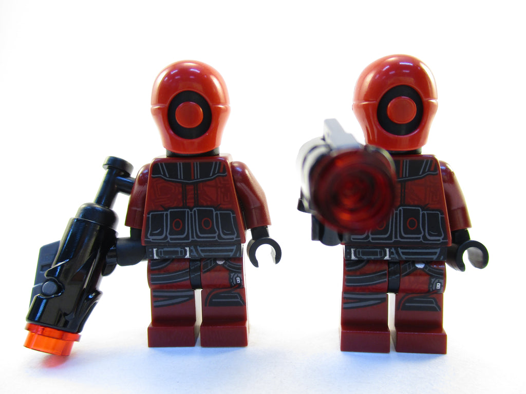 LEGO Star Wars Lot of 2 Guavian Security Soldier Minifigure 75180 Mini Fig with Blasters