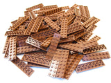 LEGO Reddish Brown Plate 2x8 Lot of 100 Parts Pieces 3034