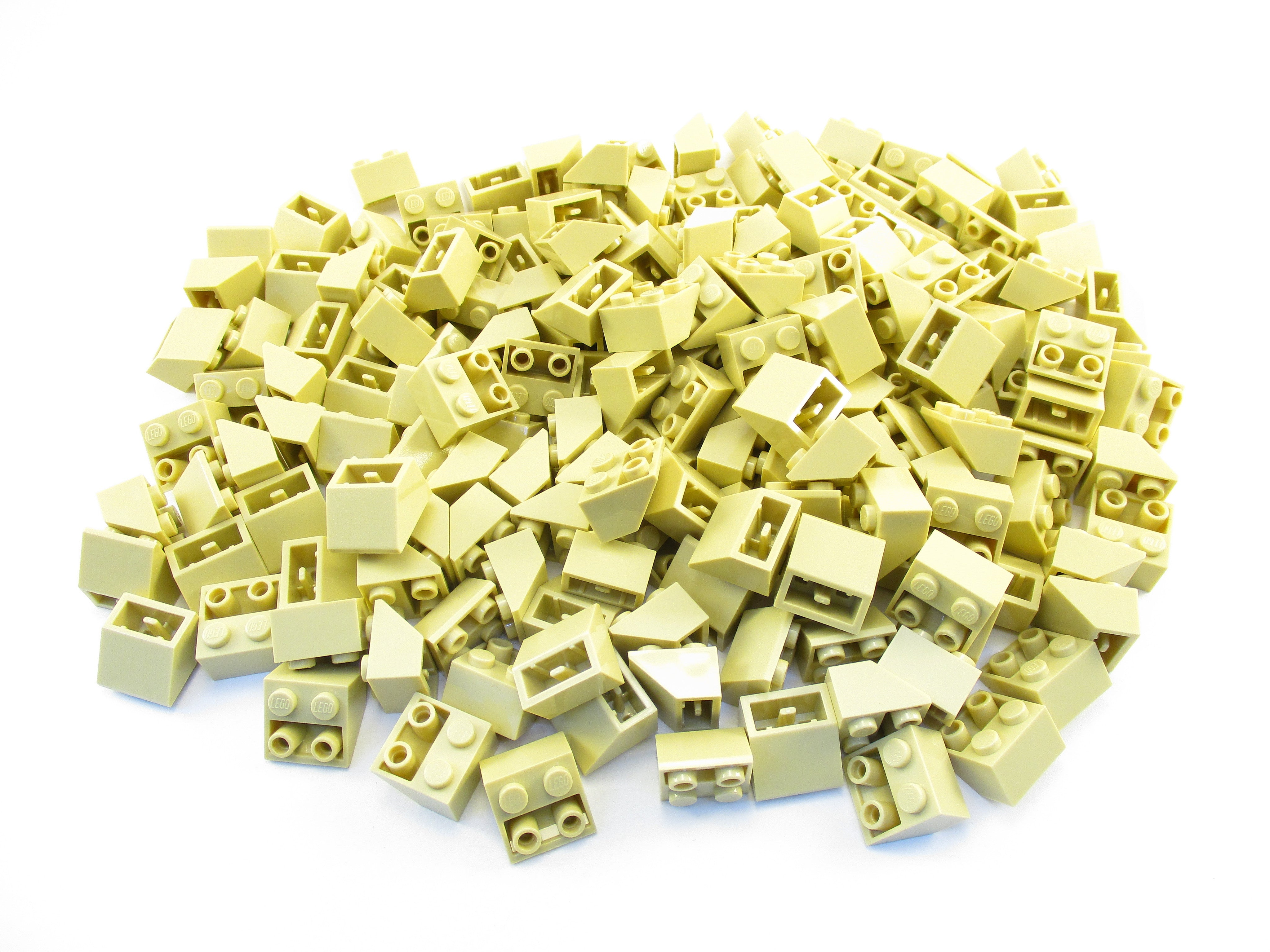 LEGO Tan Slope Inverted 45 2x2 Lot of 100 Parts Pieces 3660