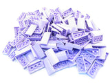 LEGO Lavender Slope Curved 2x4x2/3 No Studs Lot of 100 Parts Pieces 88930